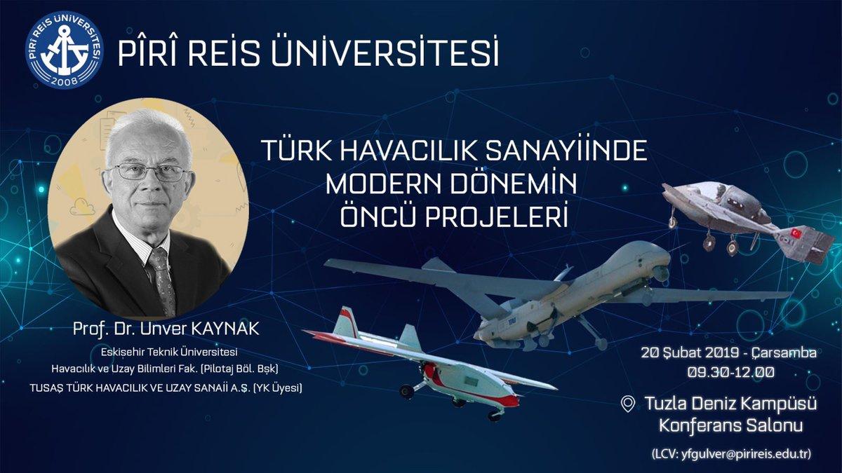 ''Türk Havacılık Sanayiinde Modern Dönemin Öncü Projeleri'' Konferansı https://t.co/gUyLnK8CRu