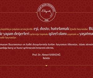 Rektörümüz Prof.Dr.Ahmet Karadağ'ın Ramazan Bayramı Mesajı. https://t.co/bxc4lRHjSh