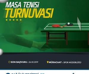 Masa Tenisi Turnuvası için başvurularınızı Spor Müdürlüğü'ne yapabilirsiniz. Son başvuru tarihi 26 Şubat ?? https://t.co/cq0pOa5Czh