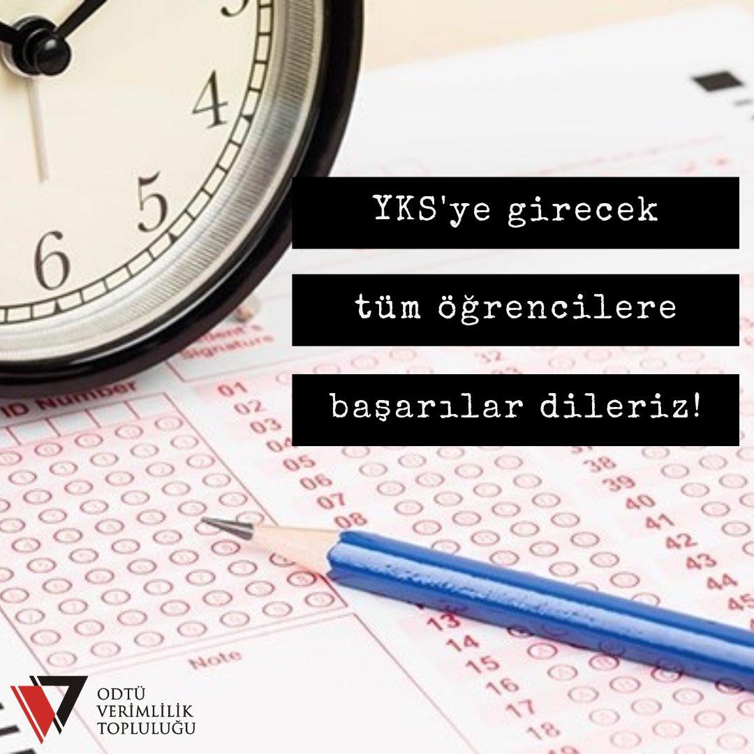 #YKS' ye girecek tüm üniversite adaylarına başarılar dileriz! https://t.co/FAMrzcyFGt