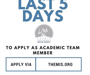 You have still five more days! This unique academic experience is just a click away. Apply via www.themiscs.org