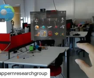 #Repost @happernresearchgroup  This week the Happern students are testing the user experience and effects of the #hololens #augmentedreality glasses from #Microsoft on campus with students #fun #science #phdlife #students #Research #VR #art #design #uxdesign #computerscience #computerengineering #gaming