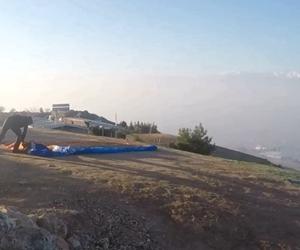Kalkış yapmadan önce hazırlanırken ?? #tb #gopro #takeoff #paragliding #yamacparasutu #egeüniversitesi