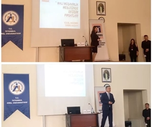 Uygulamalı Bilimler Yüksekokulu, Muhasebe Bilgi Sistemleri Bölümü tarafından düzenlenen 'Mali müşavirlik mesleğinin geleceği ve kariyer fırsatları.' konulu seminer İstanbul Serbest Muhasebeci Mali Müşavirler Odası Başkanı Yücel Akdemir'in sunumuyla başladı. #arelüniversitesi