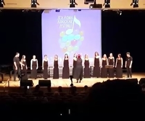 Polifonik Korolar Festivali - @izmirekonomiuni çok sesli korosu @echoir_ - The Phantom Of The Opera ???????? @echoir_ #tenor #soprano #bass #alto #muziksehri #festival #sanat #şarkı #thephantomoftheopera